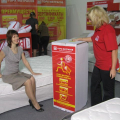 "The ""Mountain of mattresses"" trade format is patented - twisted spring mattresses placed in a small box on wheels for instant purchase without waiting for delivery. Since August, Askona began supplying them to one of the biggest supermarket chains in Russia ""Auchan""."